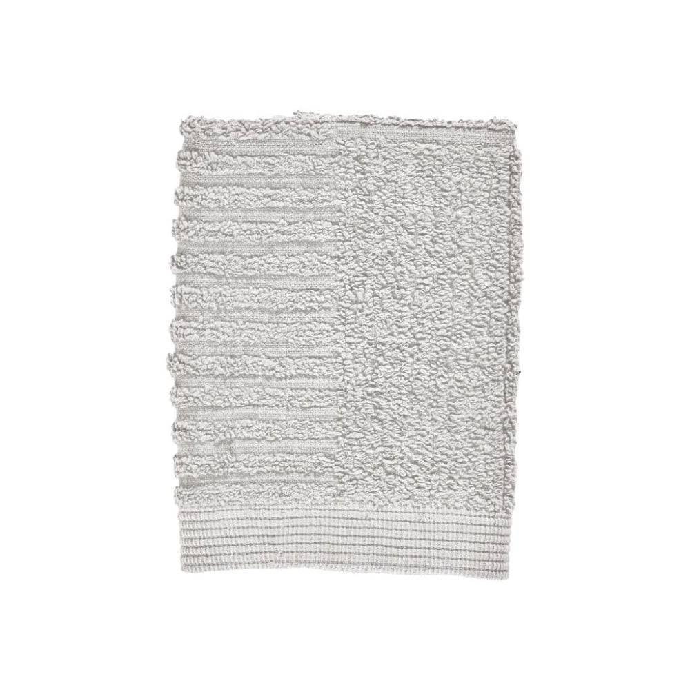 Zone Svetlosivý uterák zo 100% bavlny na tvár Zone Classic Soft Grey, 30×30 cm
